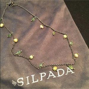 SILPADA .925 Green Pearl Peridot Choker N1373